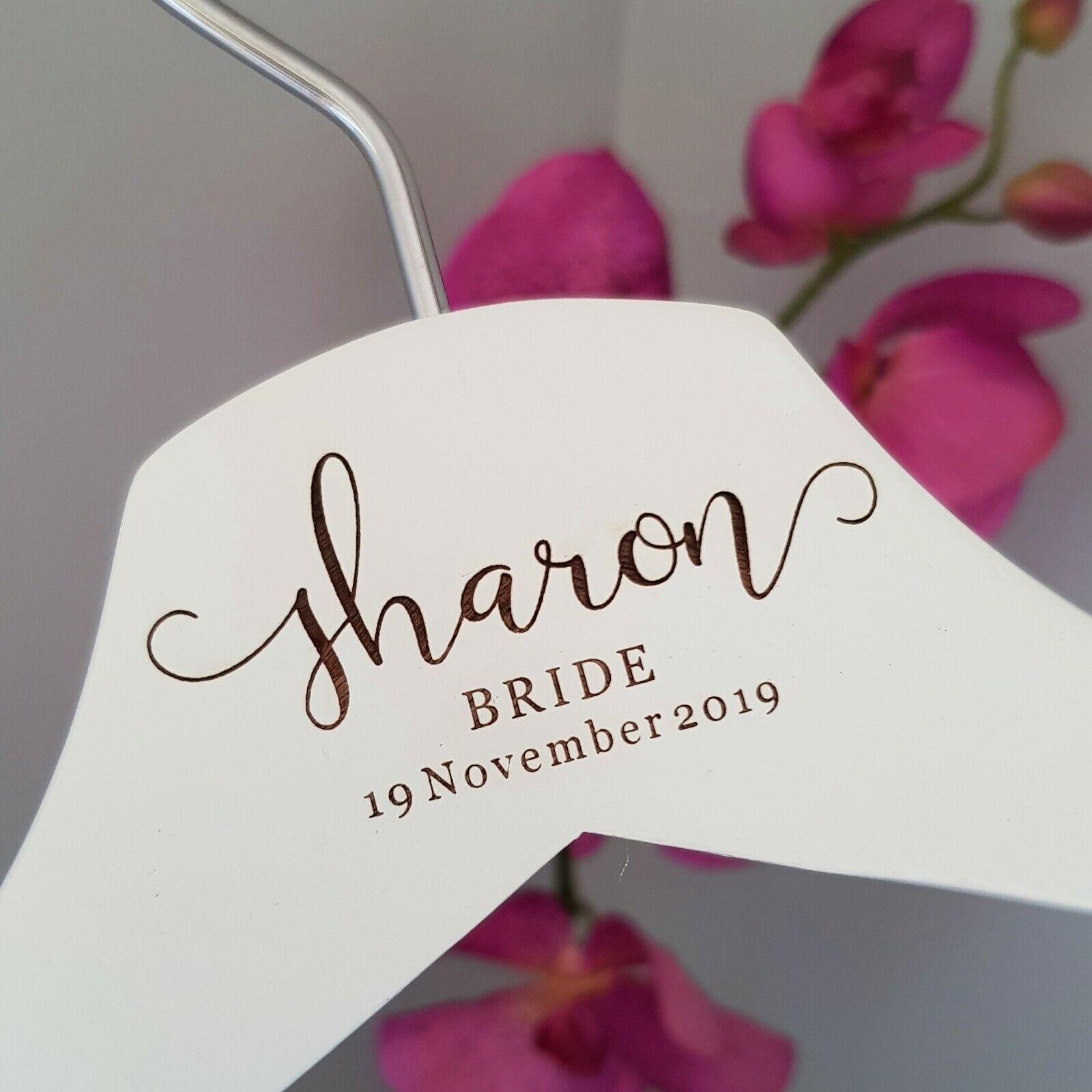 White Bridal Personalised Coat-hanger